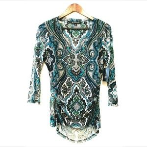 INC Womens Size LG Casual Top Be Bold 3/4 Sleeve